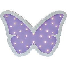 Светильник настенный Ночной лучик «Бабочка», фиолетовый