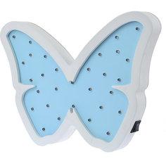 Светильник настенный Ночной лучик «Бабочка», голубой