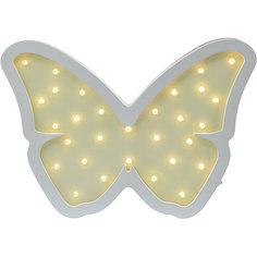 Светильник настенный Ночной лучик «Бабочка», желтый