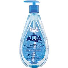 Средство для купания малыша и шампунь AQA Baby, 400 мл.