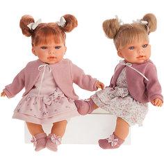Кукла Munecas Antonio Juan Альма в розовом, озвученная, 37 см