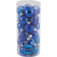 Набор елочных шаров Волшебная страна, синие