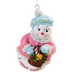 "Украшение Fenix-present ""Снеговик с корзинкой"" Феникс Презент"
