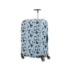 Чехол для чемодана Samsonite Микки, Минни, синий 86 см