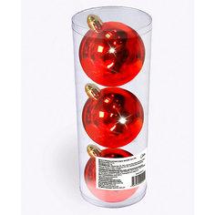 Набор елочных шаров B&H 3 шт, 9 см., красные BH