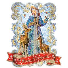 """Новогоднее украшение Fenix-present """"Снегурочка и оленята"""" Феникс Презент"""