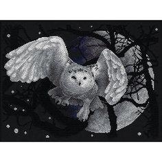 """Набор для вышивания Panna """"Счётный крест"""" Белая сова, 36х27 см"""