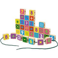 "Шнуровка Alatoys ""Цифры"", 50 кубиков"
