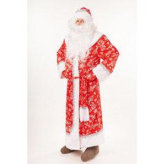 """Карнавальный костюм """"Дед Мороз Морозко"""" (шуба, шапка,борода, варежки, мешок, пояс) размер 182-54-56 Пуговка"""