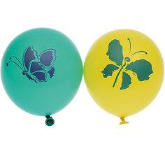 """Воздушные шары Belbal """"Бабочки"""", с рисунком, 50 шт"""