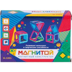 """Магнитный конструктор """"Магнитой"""", 6 квадратов (2 - с окном)"""