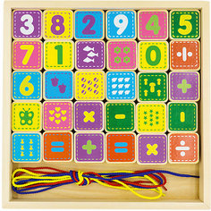 "Шнуровка Alatoys ""Цифры"", 30 кубиков"