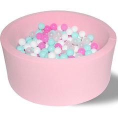 """Сухой бассейн Hotenok """"Розовая мечта"""" 40 см, 200 шариков"""