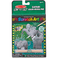 Блокнот Melissa & Doug Scratch art, Сафари