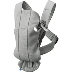 Рюкзак-кенгуру BabyBjorn Mini Cotton Jersey светло-серый