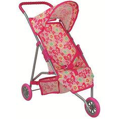 Коляска для кукол Buggy Boom Mixy, розовая/бабочки