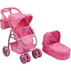 Коляска - трансформер Buggy Boom, светло-розовая