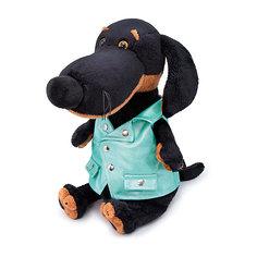 Мягкая игрушка Budi Basa Собака Ваксон в зеленой рокерской жилетке, 25 см