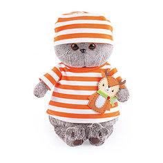 Мягкая игрушка Budi Basa Кот Басик в полосатой футболке с олененком, 25 см