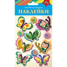 "Наклейки Апплика ""Ассорти"" Цветочки и бабочки 2"