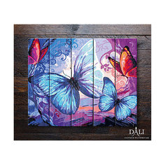 "Картина по номерам по дереву ДАЛИ ""Бабочки"" Dali"
