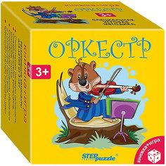 """Развивающий набор Step Puzzle """"Книжка + игра"""" Оркестр Степ пазл"""