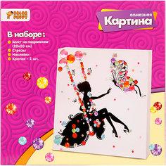"Алмазная картина Color Puppy ""Принцесса на качелях"", 20х20 см"