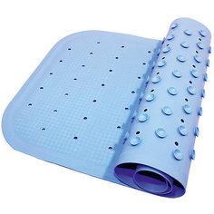 Антискользящий коврик для ванны 34,5х76 см, голубой Roxy Kids