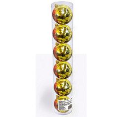 Набор елочных шаров B&H 6 шт, 6 см., золотые BH