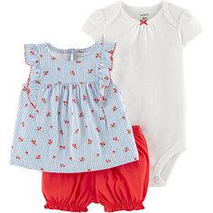 Комплект Carters: блузка, боди и шорты