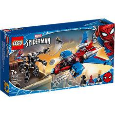 Конструктор LEGO Super Heroes 76150: Реактивный самолёт Человека-Паука против Робота Венома