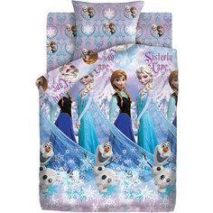 Детское постельное белье 1,5 сп Непоседа «Холодное сердце. Сёстры и Олаф»