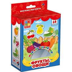 """Мягкие магниты Vladi Toys """"Мой маленький мир"""" Овощи и фрукты"""