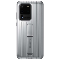 Чехол Samsung Protective Standing Cover Galaxy S20 Ultra Silver