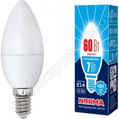 Светодиодная лампа volpe led-c37-7w/nw/e14/fr/nr. форма свеча, матовая. ul-00003795