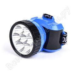 Аккумуляторный налобный фонарь smartbuy 7 led, синий sbf-24-b