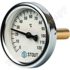 Термометр биметаллический с погружной гильзой, корпус stout rg008q0c179rqq