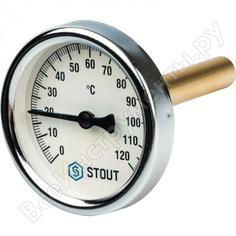 Термометр биметаллический с погружной гильзой stout rg008q0c17dbc6
