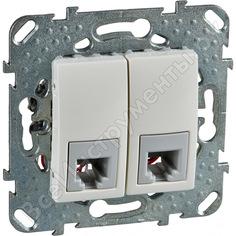 Телефонная розетка schneider electric unica беж 2-ая 4 контакта mgu5.9090.25zd