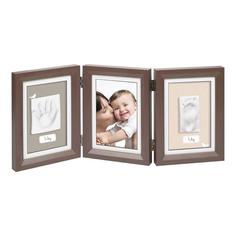 Рамка тройная Baby Art Классика коричневая