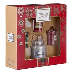Набор подарочный Yankee Candle свеча в малой банке + 3 чайные свечи