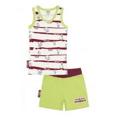 Пижама с шортами Lucky Child МИ-МИ-МИШКИ полосатая 86-92