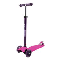 Самокат Трехколесный Maxiscoo Junior со Светящимися Колесами, Розовый