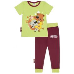 Пижама Lucky Child с брюками МИ-МИ-МИШКИ с брюками зелёная 86-92