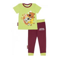 Пижама Lucky Child с брюками МИ-МИ-МИШКИ зелёная 116-122