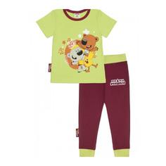 Пижама Lucky Child с брюками МИ-МИ-МИШКИ зелёная 122-128