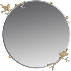 "Зеркало Bogacho ""Терра"" (d=60см), Айвори(АС), цв. к. Айвори Мраморное золото(АСМзл)"