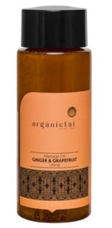 Organic Tai, Массажное масло для тела с имбирем и грейпфрутом Massage Oil Ginger & Grapefruit Lifting, 100 мл