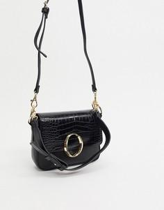 Черная сумка на плечо с пряжкой ALDO-Черный