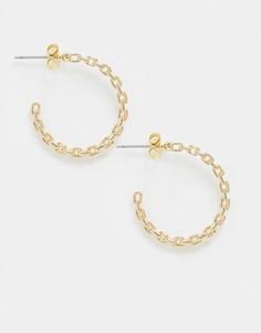 Позолоченные серьги-кольца Saint Lola-Золотой